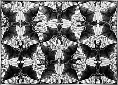 Escher Figure optical illusion from Austin Psychologists PsychARTS