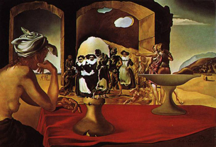Dali optical illusion from Austin Psychologists PsychARTS