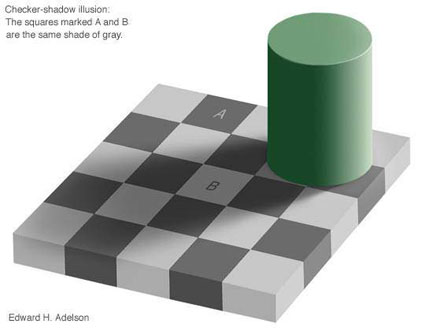 shades of gray optical illusion from Austin Psychologists PsychARTS